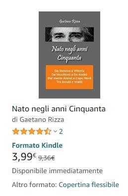 Nato negli anni Cinquanta, libro di Gaetano Rizza
